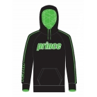 Prince Men's Pullover Hoodie (Black/Green) - Men's Outerwear Jackets Tennis Apparel