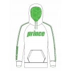 Prince Men's Pullover Hoodie (White/Green) - Men's Outerwear Jackets Tennis Apparel