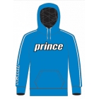 Prince Men's Pullover Hoodie (Blue/White) - Men's Outerwear Jackets Tennis Apparel