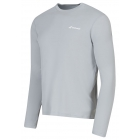 Babolat Men's Core Long Sleeves Tee (Grey) - Babolat Men's Apparel