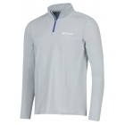Babolat Men's Core Half Zip Long Sleeves (Grey) - Babolat Tennis Apparel