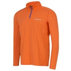 Babolat Men's Core Half Zip Long Sleeves (Orange) - Babolat Tennis Apparel