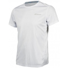 Babolat Men's Core Flag Club Tennis Tee (White/White) - Shop the Best Selection of Tennis Apparel