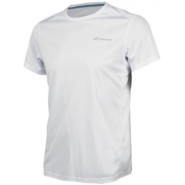 Babolat Men's Core Flag Club Tennis Tee (White/White)