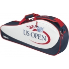 Wilson US Open 3 Pack Tennis Bag (Red/White/Blue) - 3 Racquet Tennis Bags