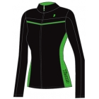 Prince Women's Warm-up Jacket (Black/Green) - Women's Outerwear