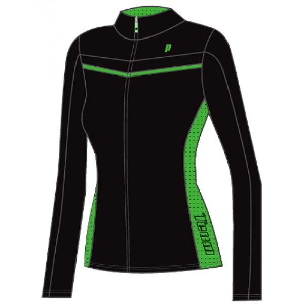 Prince Women's Warm-up Jacket (Black/Green)