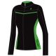 Prince Women's Warm-up Jacket (Black/Green) - Prince Tennis Apparel