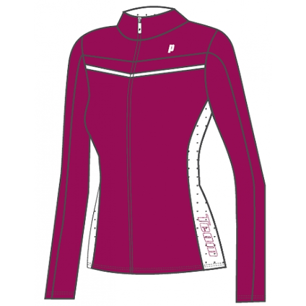 Prince Women's Warm-up Jacket (Berry/White)