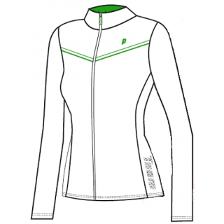 Prince Women's Zip Jacket (White/Green)