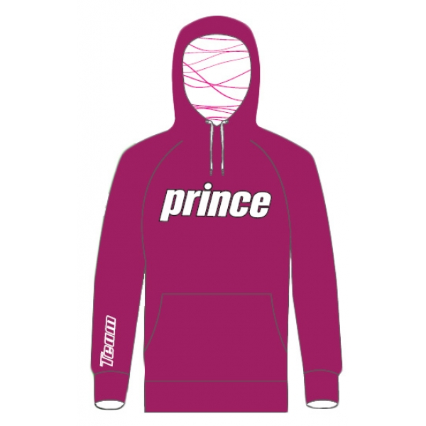 Prince Women's Pullover Hoodie (Berry/White)