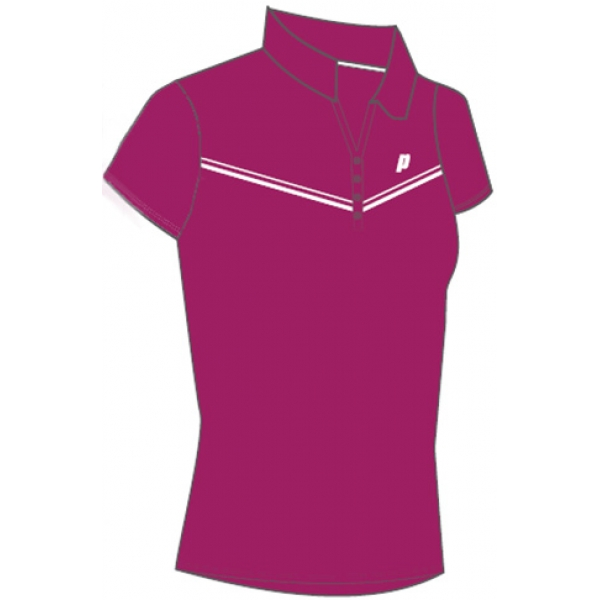 Prince Women's Polo (Berry/White)