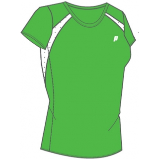 Prince Women's Crew Neck Tee (Green/White)