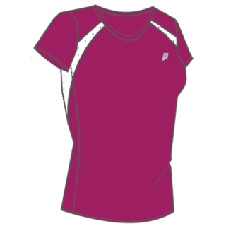 Prince Women's Crew Neck Tee (Berry/White)