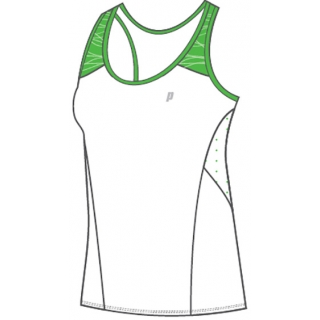Prince Women's Racerback (White/Green)