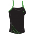 Prince Women's Spaghetti Strap (Black/Green) - Women's Tops Sleeveless Shirts Tennis Apparel