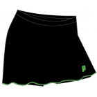 Prince Women's Skort (Black/Green) - Prince Tennis Apparel