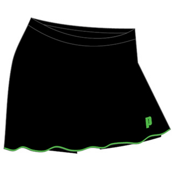 Prince Women's Skort (Black/Green)