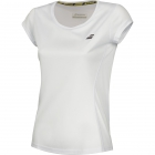 Babolat Women's Core Flag Club Tennis Tee (White/White) - Babolat Tennis Apparel