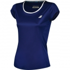 Babolat Women's Core Flag Club Tennis Tee (Estate Blue) - Babolat Tennis Apparel