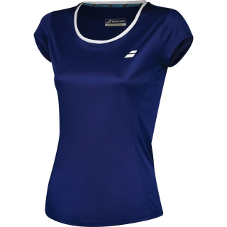Babolat Women's Core Flag Club Tennis Tee (Estate Blue)