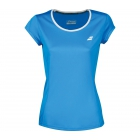 Babolat Women's Core Flag Club Tennis Tee (Diva Blue) - Babolat Tennis Apparel