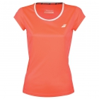 Babolat Women's Core Flag Club Tennis Tee (Fluo Strike) - Babolat Tennis Apparel