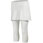 Babolat Women's Core Combi Skirt + Capri (White/White) - Babolat Tennis Apparel