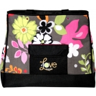 40 Love Courture Grey Floral  Tote - 40 Love Courture Violet Tennis Bags