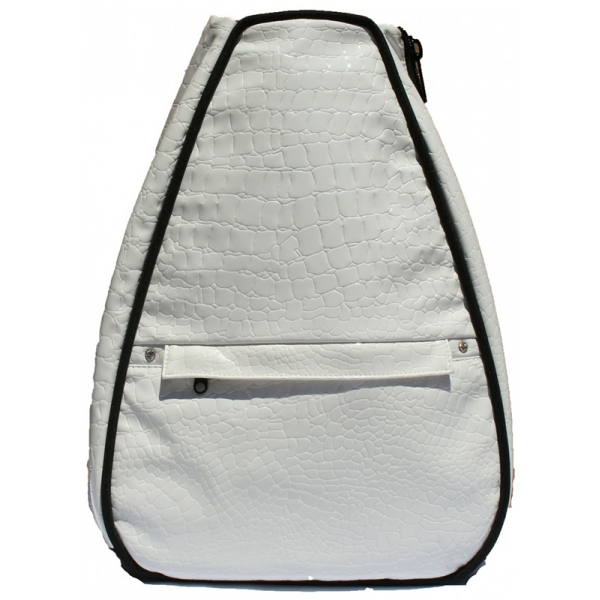 40 Love Courture White Croc Betsy Tennis Backpack