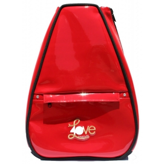 40 Love Courture Red Faux Elizabeth Tennis Backpack