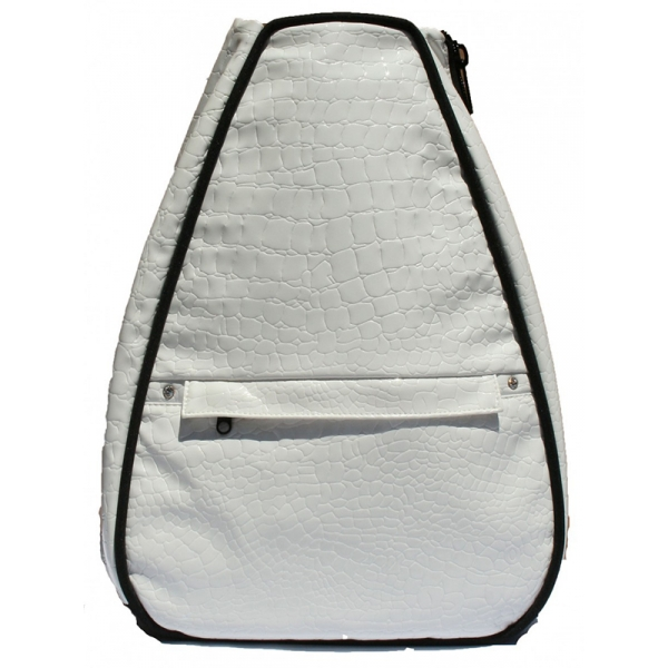 40 Love Courture White Croc Elizabeth Tennis Backpack