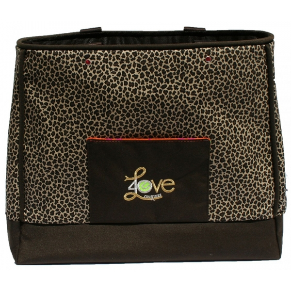 40 Love Courture Natural Cheetah Violet Tote
