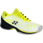 Yonex Men's Power Cushion Fusion Rev Tennis Shoes (White/Yellow) - Men's Tennis Shoes