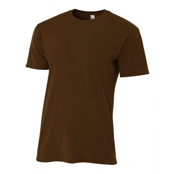 A4 Men's Performance Tri Blend Tee (Brown)