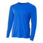 A4 Men's Performance Long Sleeve Crew (Royal) - Men's Long-Sleeve Shirts