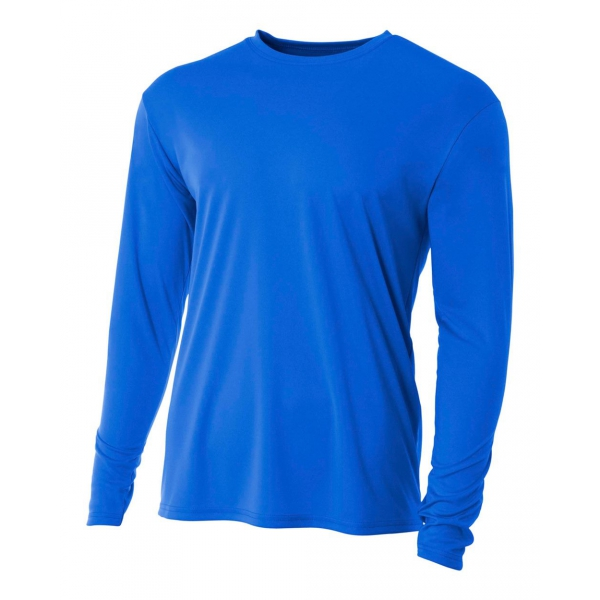 A4 Men's Performance Long Sleeve Crew (Royal)