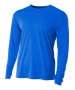 A4 Men's Performance Long Sleeve Crew (Royal) - A4