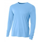 A4 Men's Performance Long Sleeve Crew (Light Blue) - Men's Long-Sleeve Shirts