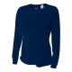 A4 Women's Performance Long Sleeve Crew (Navy) - A4 Women's Long-Sleeve Shirts