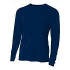 A4 Men's Performance Long Sleeve Crew (Navy) - Men's Long-Sleeve Shirts