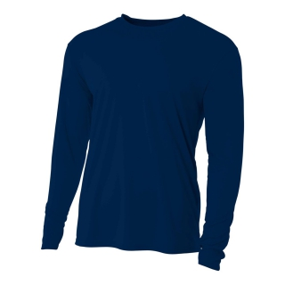 A4 Men's Performance Long Sleeve Crew (Navy)