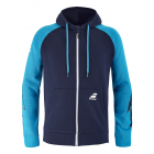 Babolat Men's Drive Hooded Tennis Jacket (Drive Blue) -