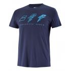 Babolat Men's Drive Cotton Tennis Tee (Drive Blue) -