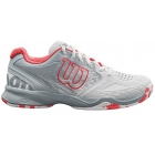 Wilson Women's Kaos Comp Tennis Shoes (White/Pearl Blue/Fiery Coral) - New Tennis Shoes