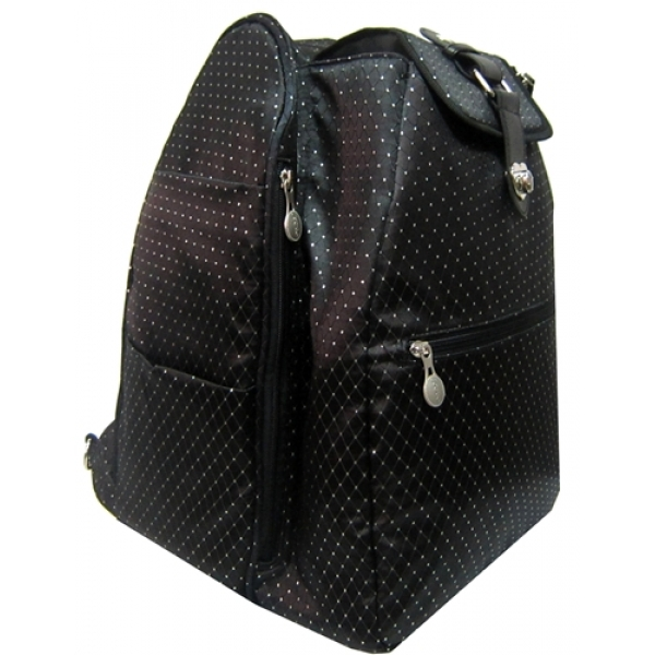 Jet Black Dot Cooljet Tennis Bag