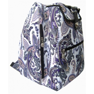 Jet Purple Paisley Cooljet Tennis Bag