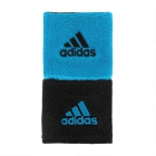 Adidas Interval Small Tennis Wristbands (Blue & Black) - Tennis Accessories