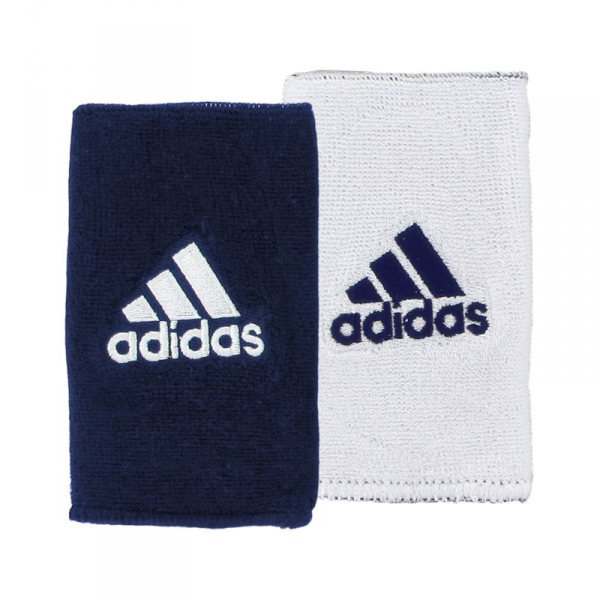 Adidas Interval Reversible Wristband-Large (Collegiate Navy/White)
