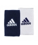 Adidas Interval Reversible Wristband-Large (Collegiate Navy/White) - Adidas Sports Headbands and Wristbands